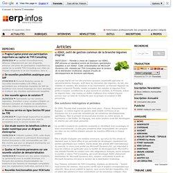 ADAX, outil de gestion commun de la branche légumes d'Agrial