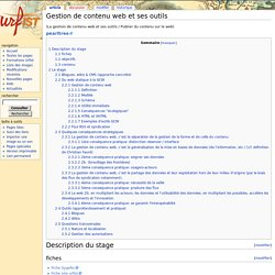 Gestion de contenu web et ses outils