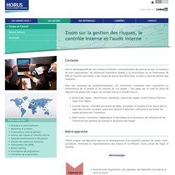 Zoom sur la gestion des risques, le contrôle interne et l'audit interne - HORUS Development Finance