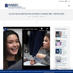 La nuit de la Gestion de la Crise à l'INSEEC SBE - Edition 2018