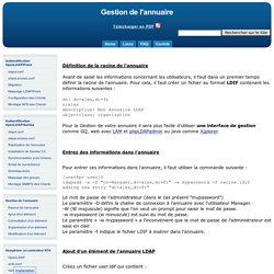 OpenLDAP - Configuration via fichier LDIF