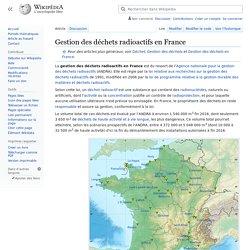 Gestion des déchets radioactifs en France