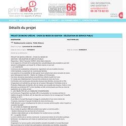 PROJET DE MICRO-CRÈCHE - CHOIX DU MODE DE GESTION - DÉLÉGATION DE SERVICE PUBLIC