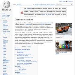 Wikipédia - Gestion des déchets