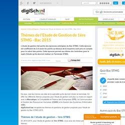 Etude de gestion Bac STMG 2015 - épreuve anticipée STMG