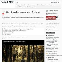 Gestion des erreurs en Python