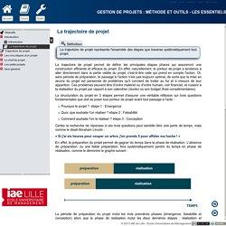 Gestion de projets : méthode et outils - Les essentiels - La trajectoire de projet