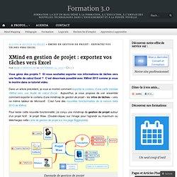 XMind en gestion de projet : exportez vos tâches vers Excel