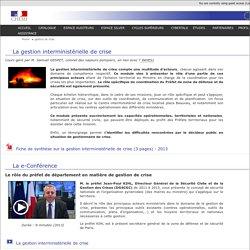 Course: La gestion interministérielle de crise