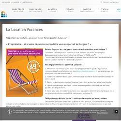 Gestion de location de vacances - Foncia