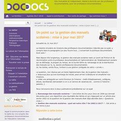 Un point sur la gestion des manuels scolaires : mise à jour mai 2017