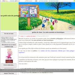 gestion de classe : les cartes mentales ou heuristiques