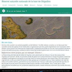 Gestion réserve naturelle baie aiguillon