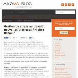 Gestion du stress au travail : nouvelles pratiques RH chez Renault