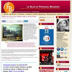 Gestion de crise sur les médias, cas Air France sociaux