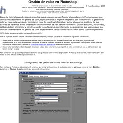 Gestion de color en Photoshop - Hugo Rodriguez