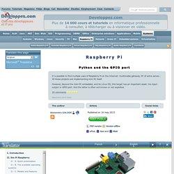 Gestion du port GPIO du Raspberry Pi avec Python