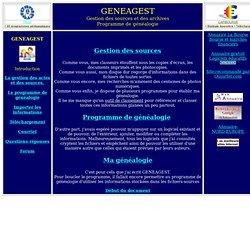 Gestion des sources et programme de généalogie
