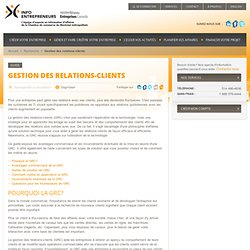 Gestion des relations-clients