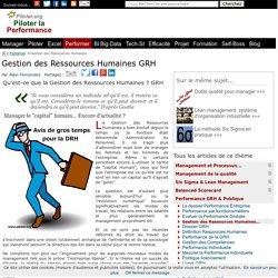 Qu'est-ce que la GRH Gestion des Ressources Humaines