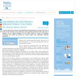 Les modes de gestion du service public culturel