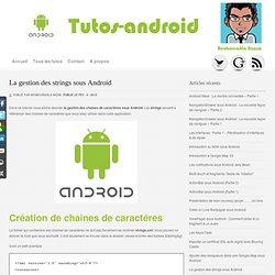 La gestion des strings sous Android