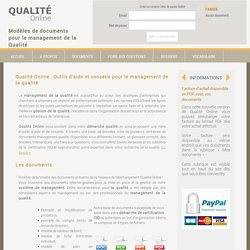 Qualité Online - Management qualité - Information et documents