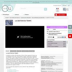 (Dont vidéo) La gestion du temps - Les Amphis de France 5