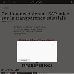 Gestion des talents : SAP mise sur la transparence salariale - Les Echos