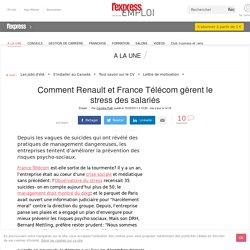La gestion du stress au travail chez Renault et France Telecom
