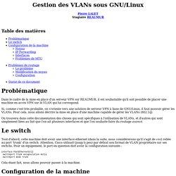 Gestion des VLANs sous GNU/Linux