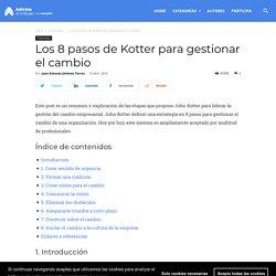 Los 8 pasos de Kotter para gestionar el cambio - Adictos al trabajo