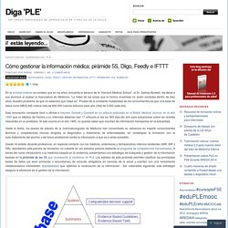 Cómo gestionar la información médica: pirámide 5S, Diigo, Feedly e IFTTT