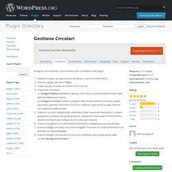 Gestione Circolari — WordPress Plugins