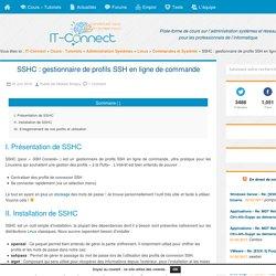 SSHC : gestionnaire de profils SSH en ligne de commande