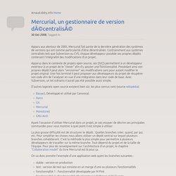 Mercurial, un gestionnaire de version décentralisé