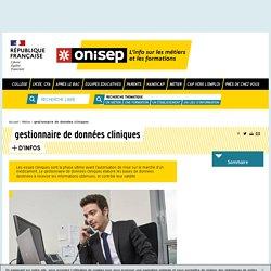 gestionnaire de données cliniques - Onisep
