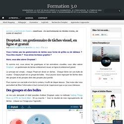 Droptask : un gestionnaire de tâches visuel, en ligne et gratuit