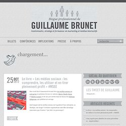 Blogue professionnel de Guillaume Brunet, M. Sc. - Stratège ...