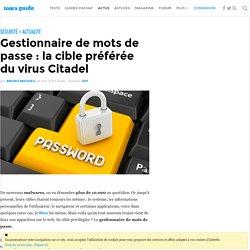 Gestionnaire de mots de passe : la cible préférée du virus Citadel