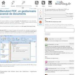 Benubird PDF, un gestionnaire avancé de documents