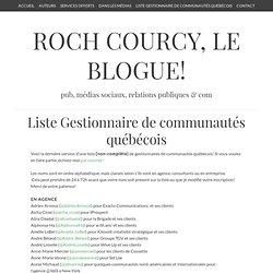 Liste de gestionnaires de communautés du québec