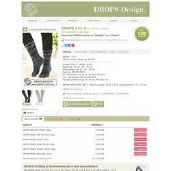 "Gestrickte DROPS Socken in ""Delight"" und ""Fabel"