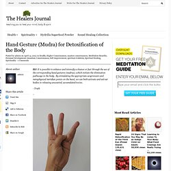 Hand Gesture (Mudra) for Detoxification of the Body