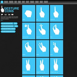 Gesturecons - Icons For Multi-Touch Interfaces