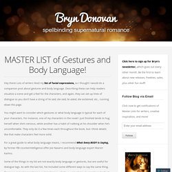 MASTER LIST of Gestures and Body Language!