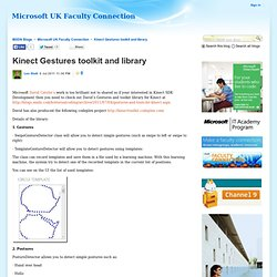 Kinect Gestures toolkit and library - Microsoft UK Faculty Connection