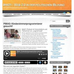 PB043: Kinderzimmerprogrammierer gesucht!