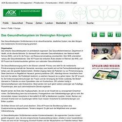 AOK-Bundesverband - Politik - Europa - Gesundheitssystem im Vereinigten Königreich
