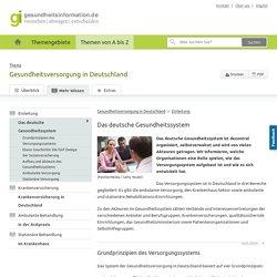 Das deutsche Gesundheitssystem - Gesundheitsversorgung in Deutschland - gesundheitsinformation.de